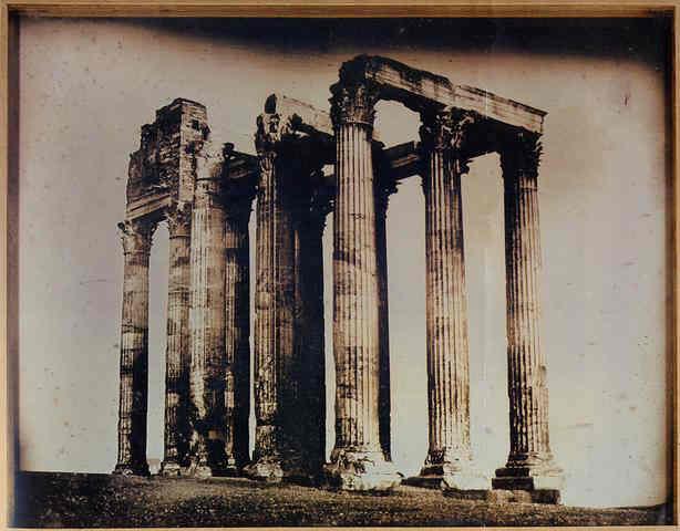 Joseph Philibert Girault de Prangey 113 Athenes, Temple de Jupiter daguerreotype