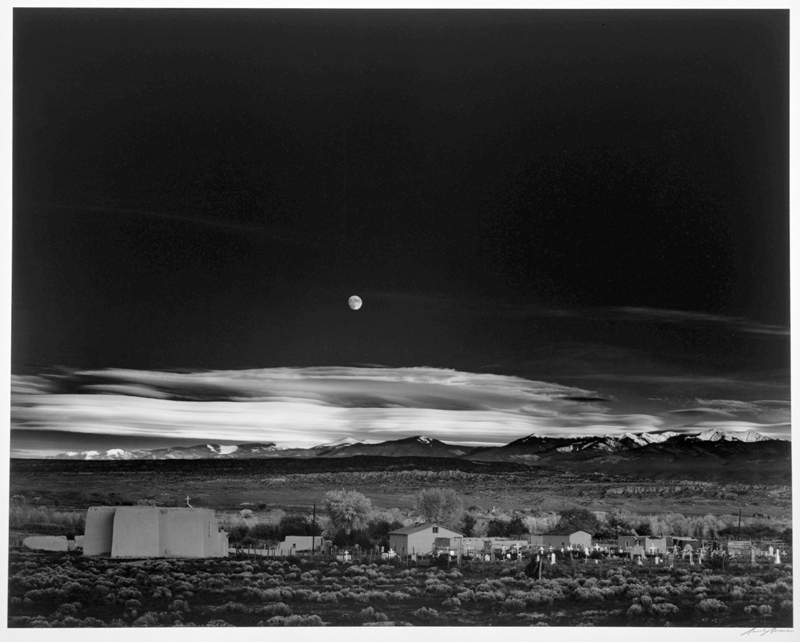 Ansel Adams Moonrise, Hernandez, New Mexico
