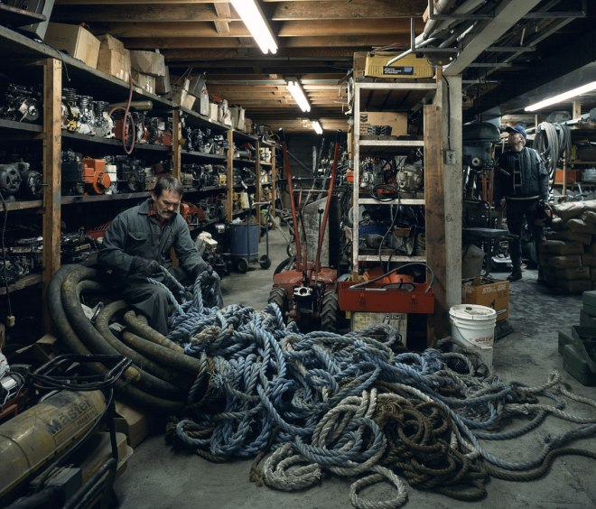 Jeff Wall Untangling Garage Expensive Photograph